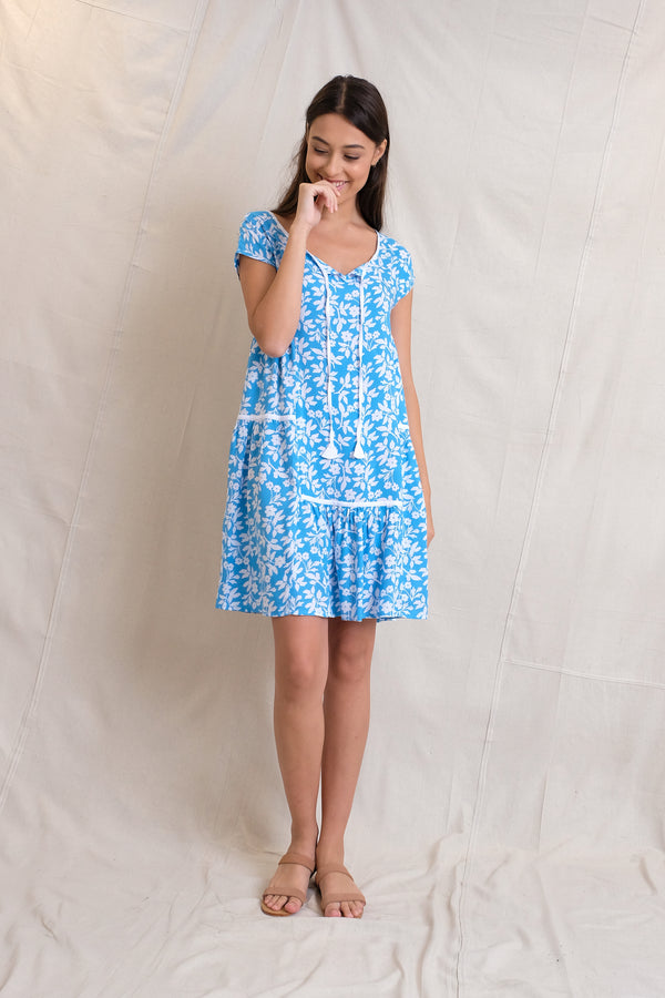 TIE LULA DRESS - Sea