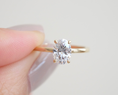 Oval Moissanite