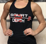 Women's Racerback Tank - Squat 2 Depth Apparel