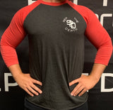 Bury It Leave No Doubt 3/4 Sleeve Raglan - Squat 2 Depth Apparel