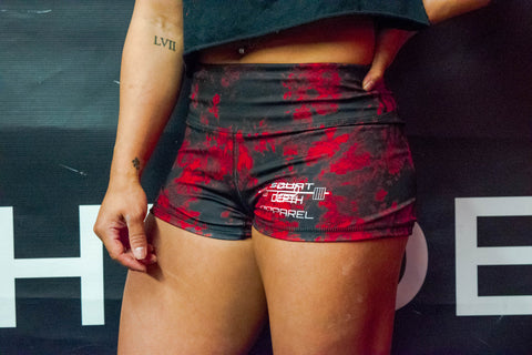 Red/Black Tie Dye Compression Shorts
