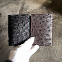 Handmade South Africa Ostrich Leather Bifold Wallet