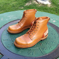 Handmade Men's / Women's Custom Carving Pattern Northampton / Hermann Leather Boot