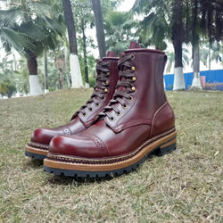 Handmade Men's / Women's Italy Full Grain Leather Boot
