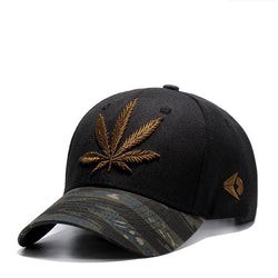 Men's / Women's Embroidery Leaf Baseball Cap Hat (2 Colors)