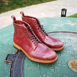 Handmade Men's / Women's Museum Calf Leather Boot
