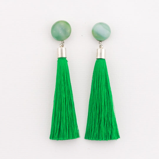 Winter Garden Tassel Earrings