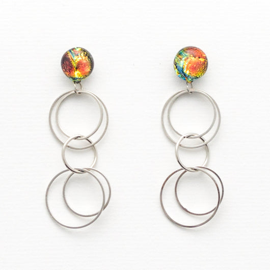 Lava Sparkle Dangle Earrings