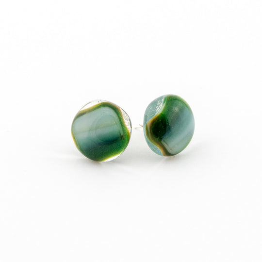 Emerald Orb Earrings