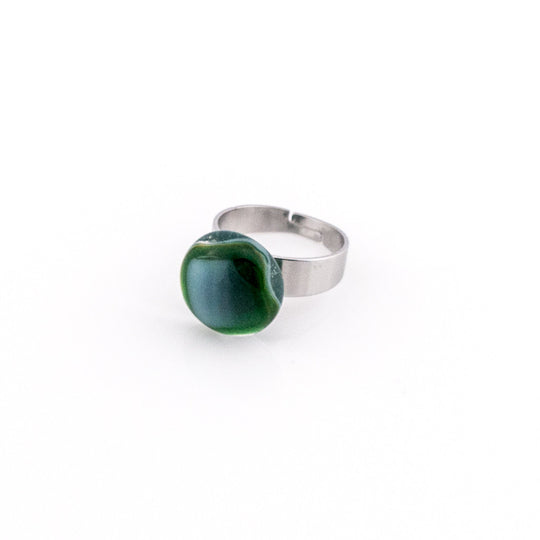 Emerald Orb Ring