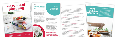 Easy Meal Planning eBook by Melissa Ringstaff