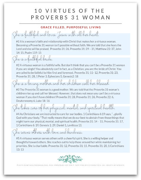 picture about Printable Bible Study Guide titled 10 Virtues of the Proverbs 31 Girl Bible Investigate Direct PDF