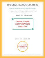 50 Family Dinner Conversation Starter Cards | 5 pages