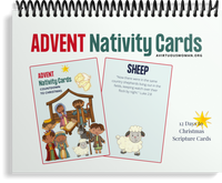 Prophecy Advent Nativity Scripture Cards | 12 Day Advent Calendar Countdown