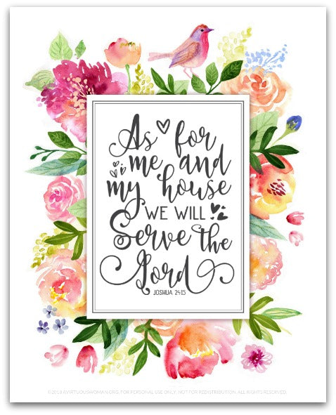 As for Me and My House We Will Serve the Lord | Art Print – Purpose 31