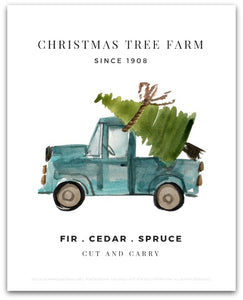 Christmas Tree Farm Art Print