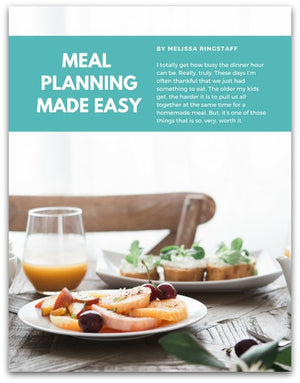 Easy Meal Planning by Melissa Ringstaff