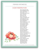 Forgiveness | 31 Day Scripture Reading Plan