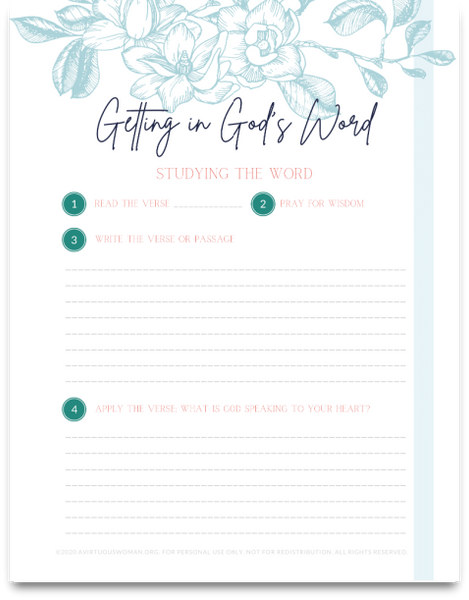 Study the Word | Bible Study Worksheets