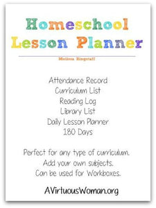 Homeschool Lesson Planner | Binder | 43 Pages