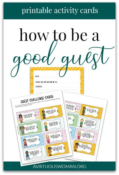 How to Be a Good Guest Activity Cards for Kids