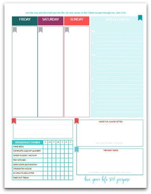 The Martha Planner w/ Meal Planning | Week-at-a-Glance | Life Planner | 190 Pages