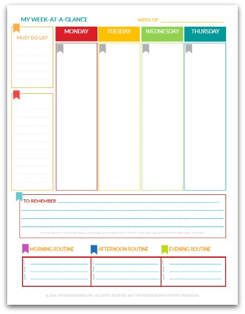 The Martha Planner Week At A Glance Life Planner 190