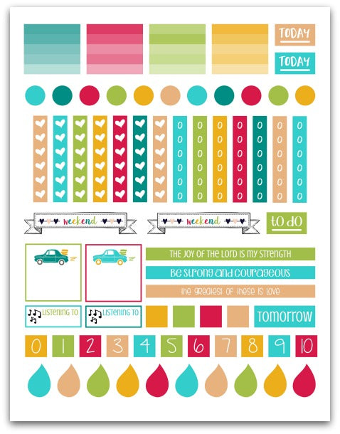 Purpose 31 Planner Stickers | Printable Planner Stickers for Christian Women