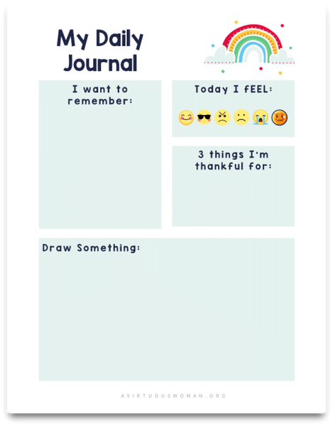 Daily Gratitude Journal | 3 Pages | for Kids