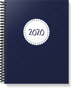 Spiral Bound: Polka Dot Homemaking Planner | 8.5 x 11 size