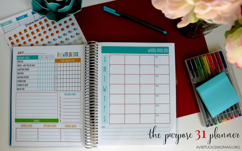 Purpose 31 Homemaking Planner | Limited Time | Spiral Bound