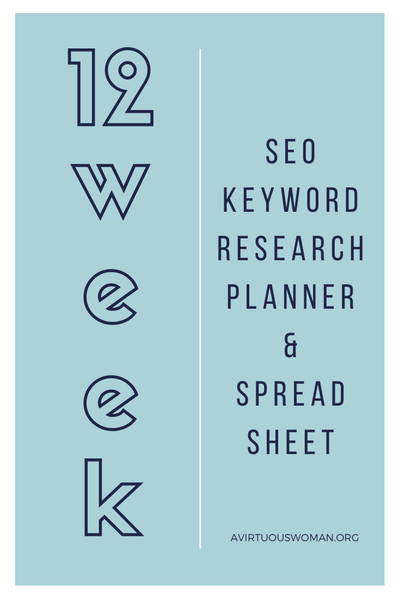 SEO Keyword Research Planner | Spreadsheet
