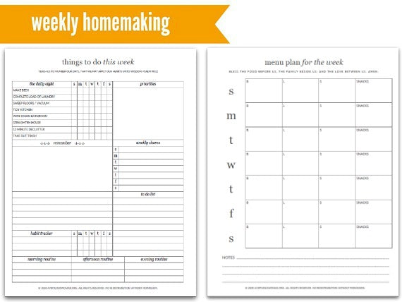 Spiral Bound | Purpose 31 Homemaking Planner | 182 Pages