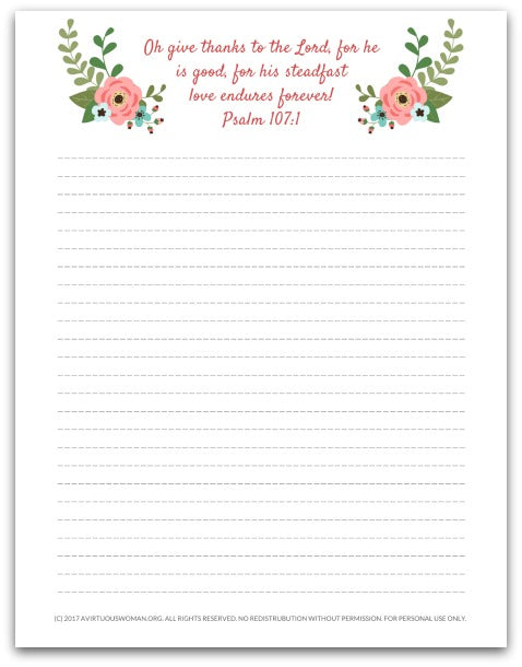 Spring Floral Gratitude Journal | 10 Pages