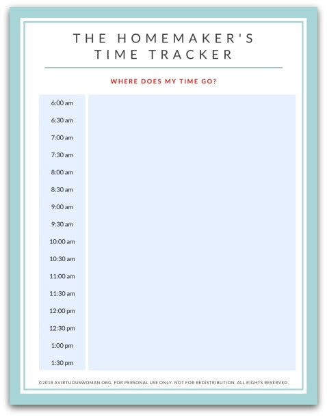 The Homemaker's Time Tracker