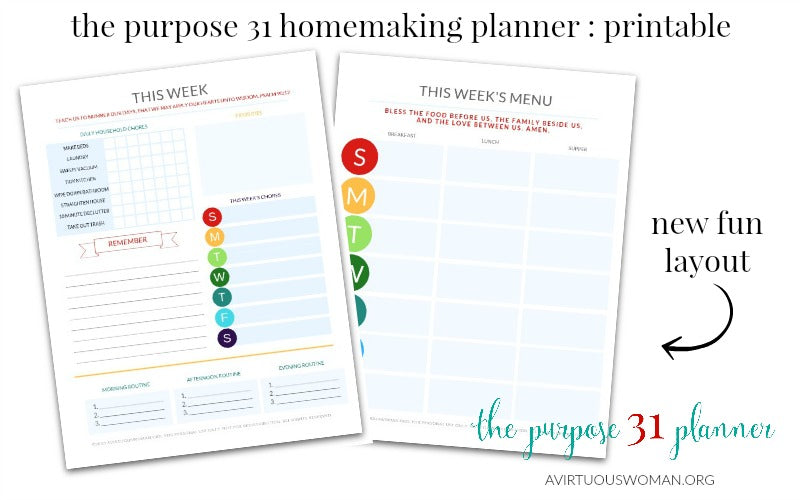 picture regarding Weekly Planner Printables referred to as The Explanation 31 Disciplined Homemaker Weekly Planner Internet pages