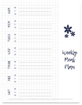 Weekly Meal Planning Planner | White