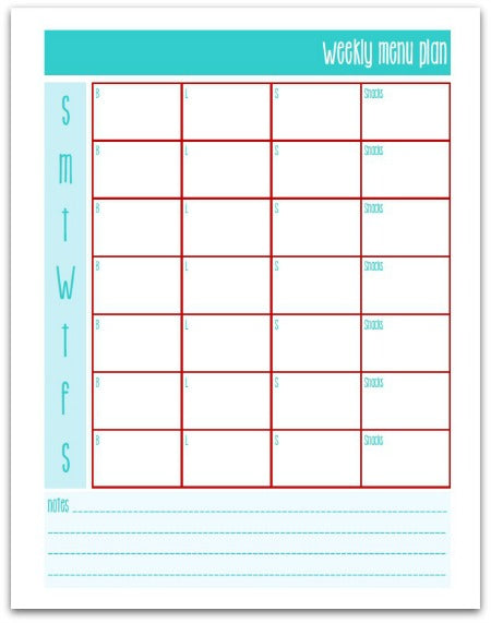 Weekly Homemaking Pages | Half Size | Planner | Household Binder Inserts