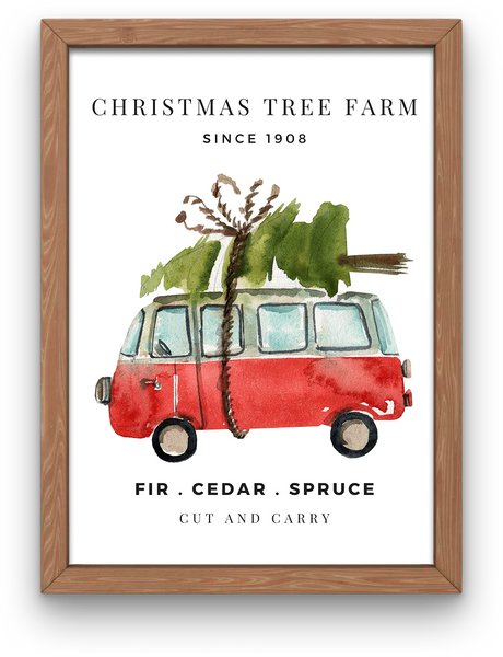 Christmas Tree Farm  Van | Art Print