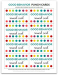 Good Behavior Punch Card | Reward Card for Kids