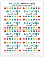 My Chores Punch Card | Reward Card for Kids