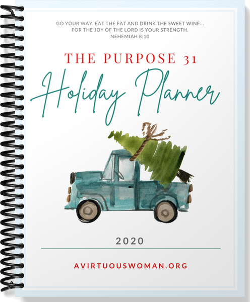 The 2020 Purpose 31 Holiday Planner | 120 Pages | 8.5 x 11 size