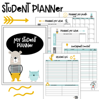 Student School Planner | Homeschool Student Planner | 6 pages