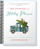 Undated | Purpose 31 Holiday Planner | 120 Pages | 8.5 x 11 size | PDF