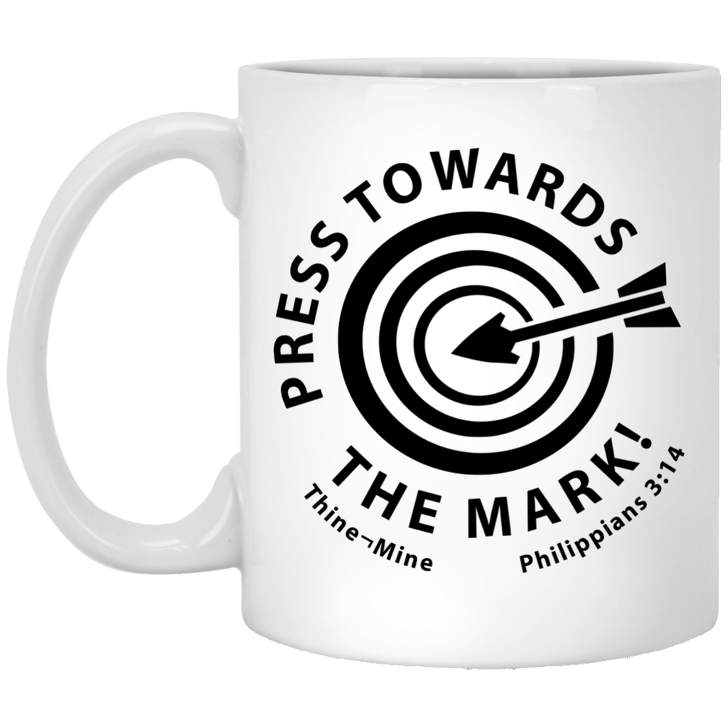 """Press Towards the Mark"" 11 oz. White Mug"