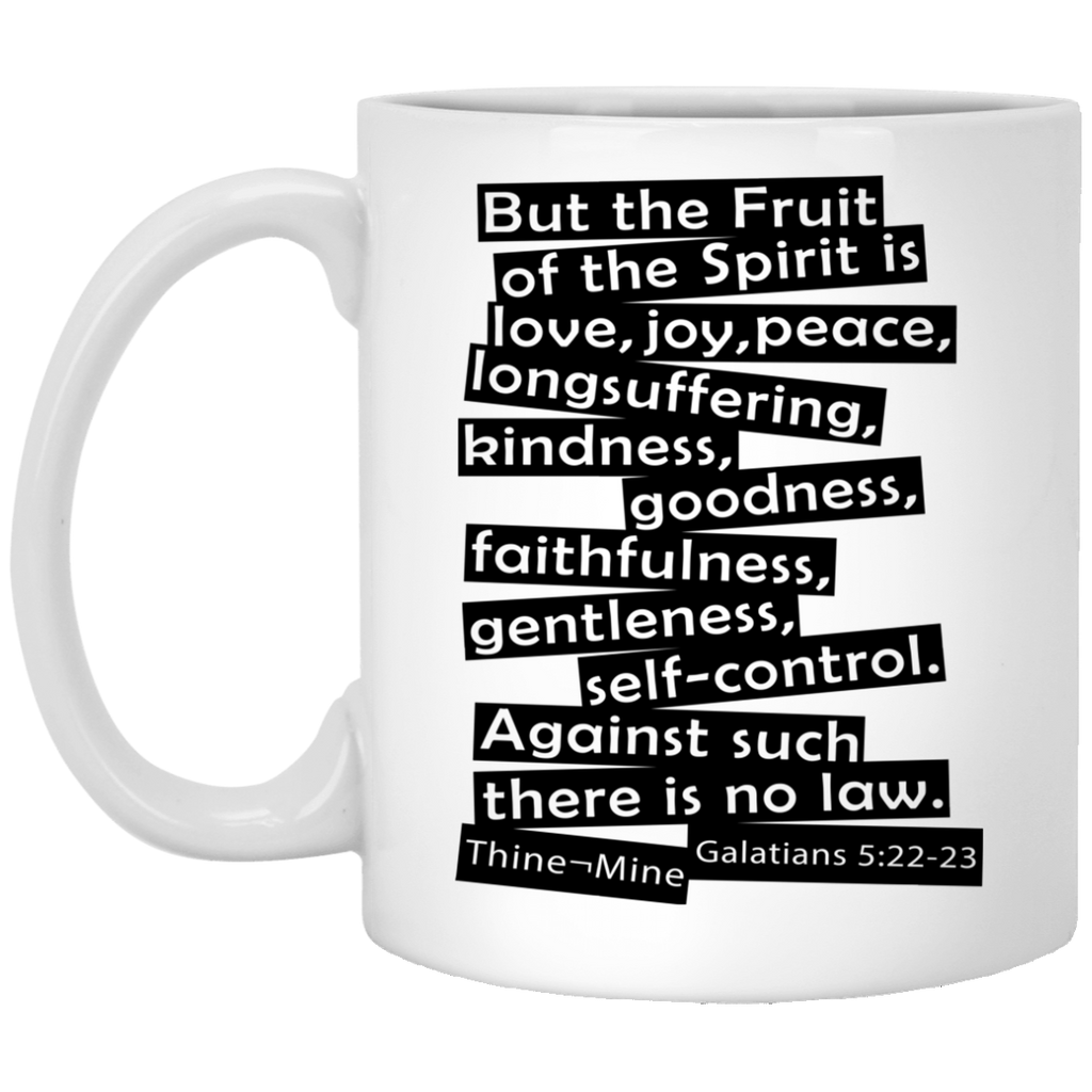 """Fruit of the Spirit"" 11 oz. White Mug"