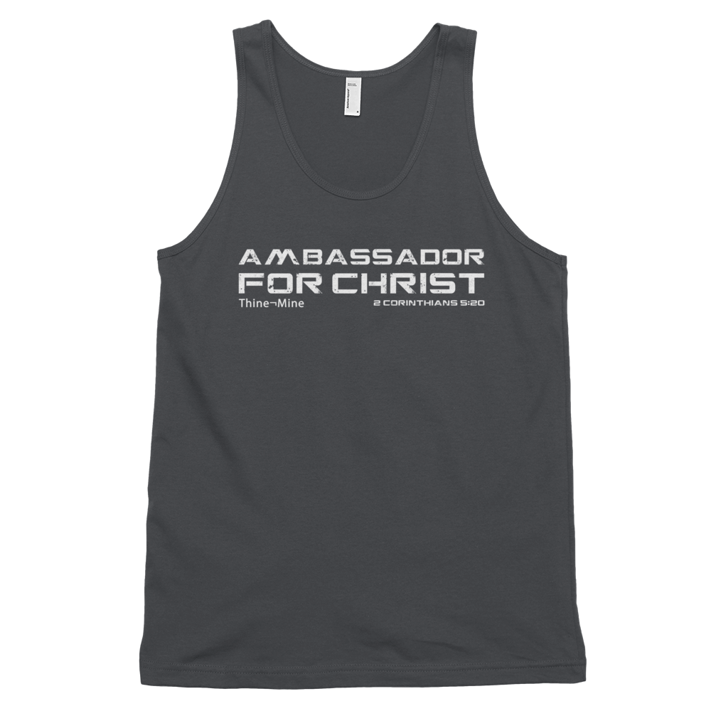 """Ambassador for Christ"" American Apparel Classic tank top (unisex)"