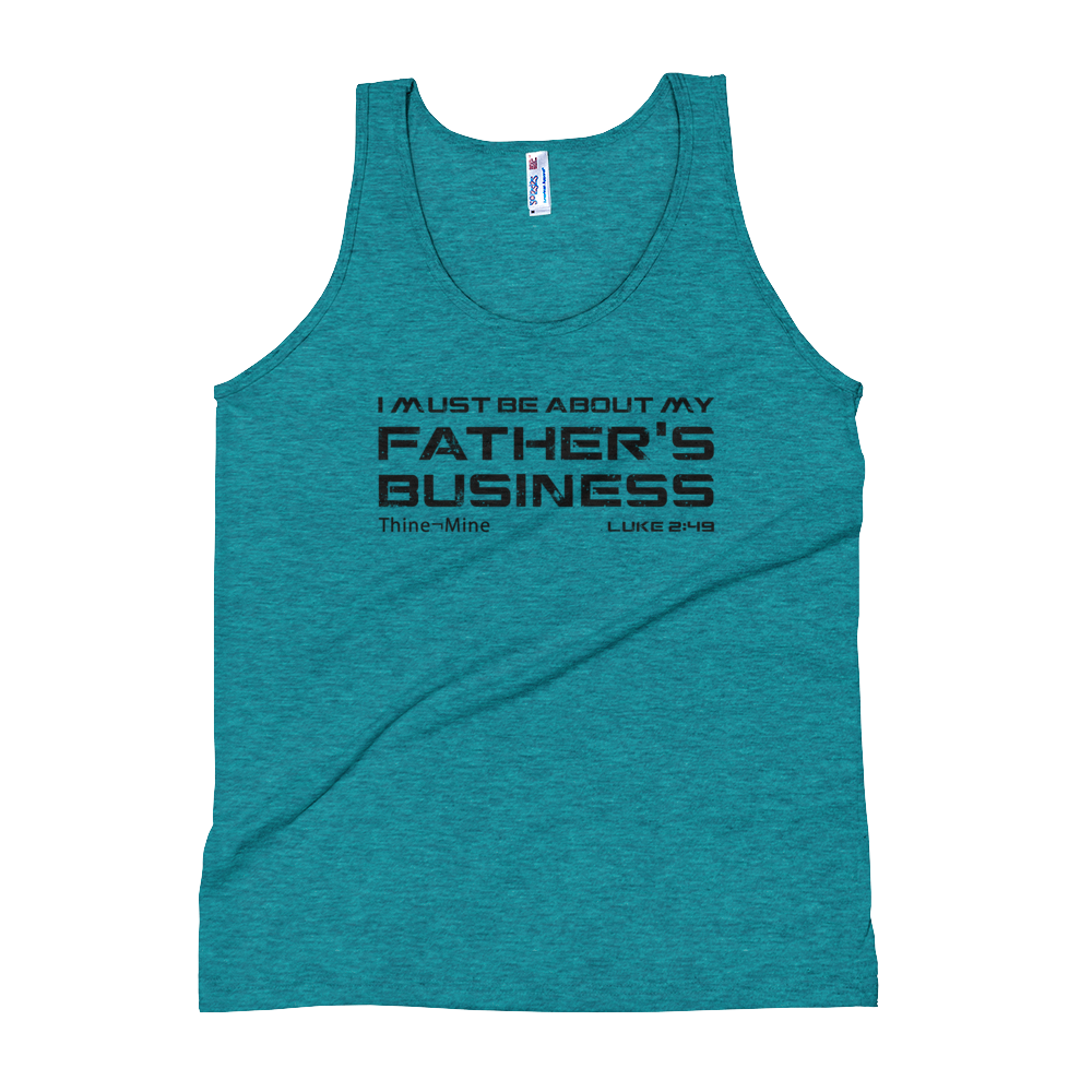 """About My Father's Business"" American Apparel Unisex Tank Top"