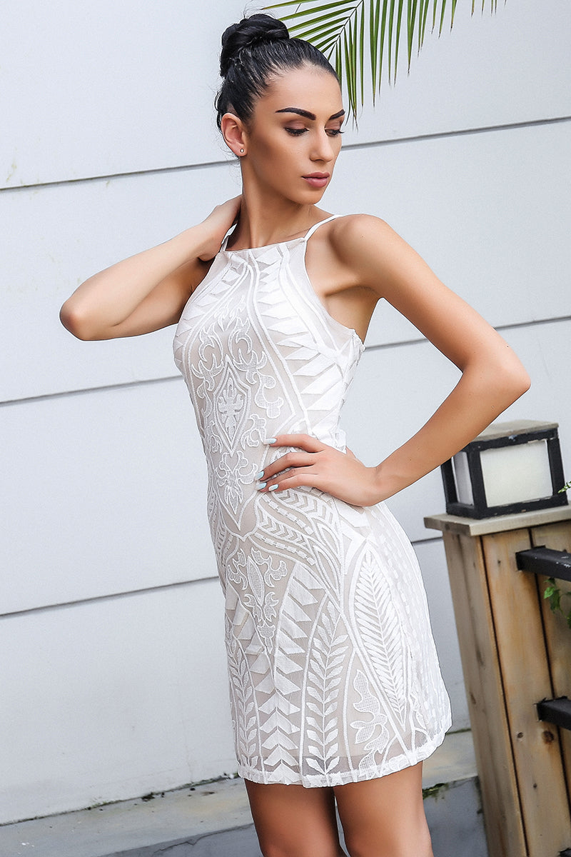 Angel White Backless
