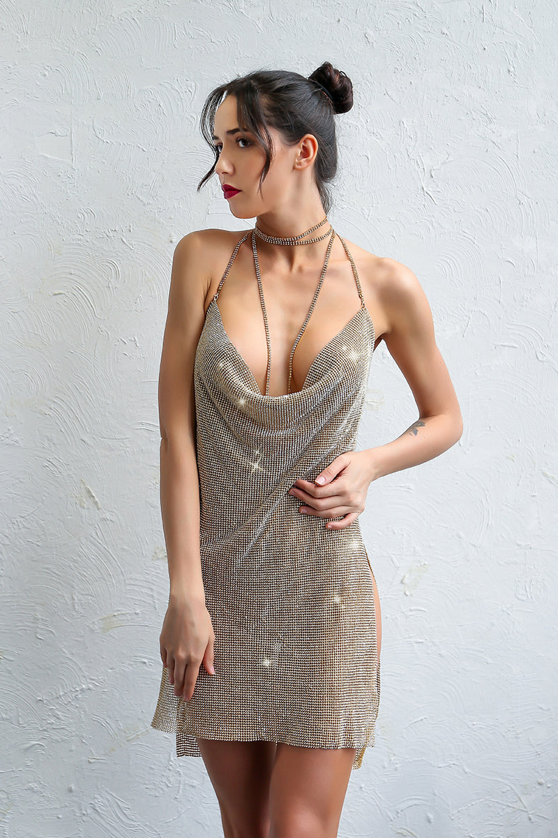 Cowal Metal Backless Dress
